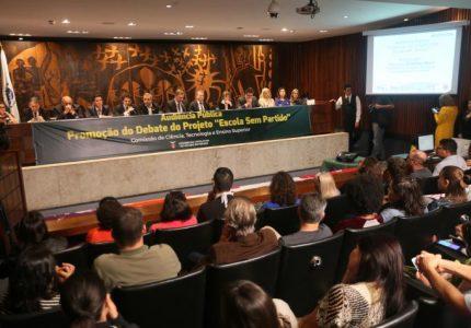 Projeto Escola Sem Partido vai a plenário na sessão da Alep de segunda-feira (16)