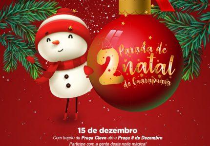 2ª Parada de Natal será no dia 15 de dezembro