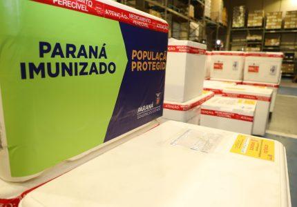 5ª Regional de Guarapuava receberá 13.285 novas doses de vacinas contra Covid-19