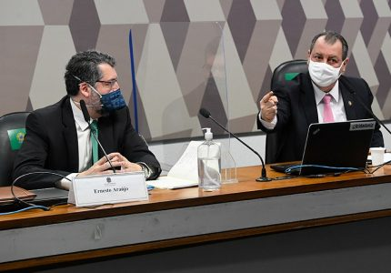 CPI poderá ter acesso à fala integral de Ernesto Araújo em reunião ministerial