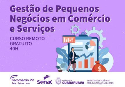 Secretaria de Políticas para Mulheres oferece curso gratuito em Guarapuava